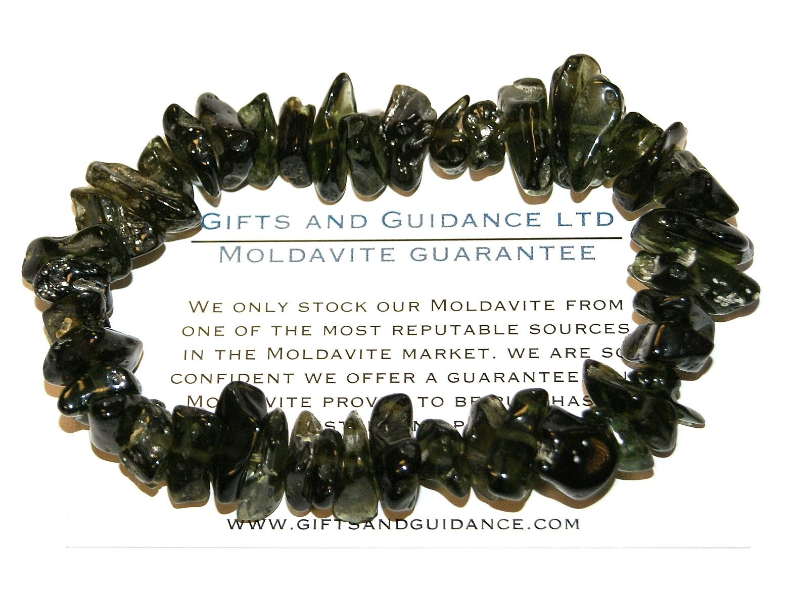 Moldavite Bracelet High Vibration Crystals Raw Polished 27.5 Grams by Gifts and Guidance