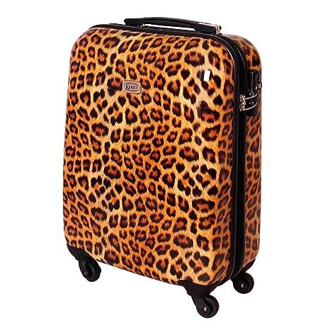 Maleta viaje maleta de mano carrito TSA Ryanair cierre 30 litros leopardo 813