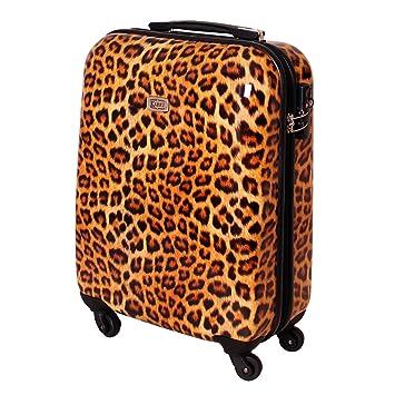 Maleta viaje maleta de mano carrito TSA Ryanair cierre 30 litros leopardo 813: Amazon.es: Equipaje