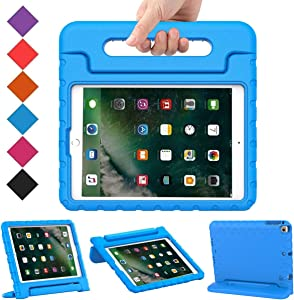 BMOUO Case for New iPad 9.7 Inch 2018/2017 - Shockproof Case Light Weight Kids Case Cover Handle Stand Case for iPad 9.7 Inch 2017/2018 (iPad 5th and 6th Generation) Previous Model - Blue