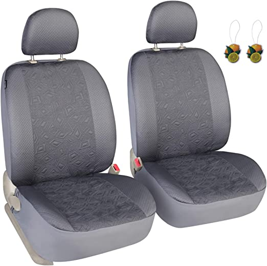YORXINGY Front Car Seat Covers Set of 2 Comfortable Automobile Seats Cover Non Fade Vehicle Seat Cushion Fit Most Truck SUV Van