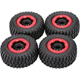 Goolsky 4Pcs AUSTAR AX-3009 High Performance 108mm 1/10 Short Course Truck Tires with Wheel Rim for All Terrain