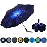 NOORNY Inverted Umbrella Double Layer Automatic Folding Reserve Umbrella Windproof UV Protection for Rain Car Travel Outdoor