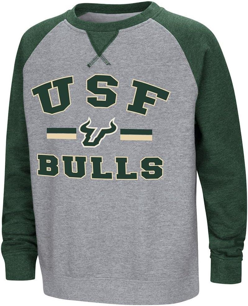 Colosseum Youth USF Bulls Fleece Crewneck Sweatshirt