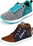 Ethics Best Sea Green Air Breathing Running Sports Shoes & Denim Sneakers Shoes for Men
