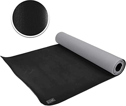 Amazon Com Edx Yoga Pilates Mat For Exercise Fitness 5mm Thick 74 X 24 Inches For Women Men Two Tone Grey Sports Outdoors