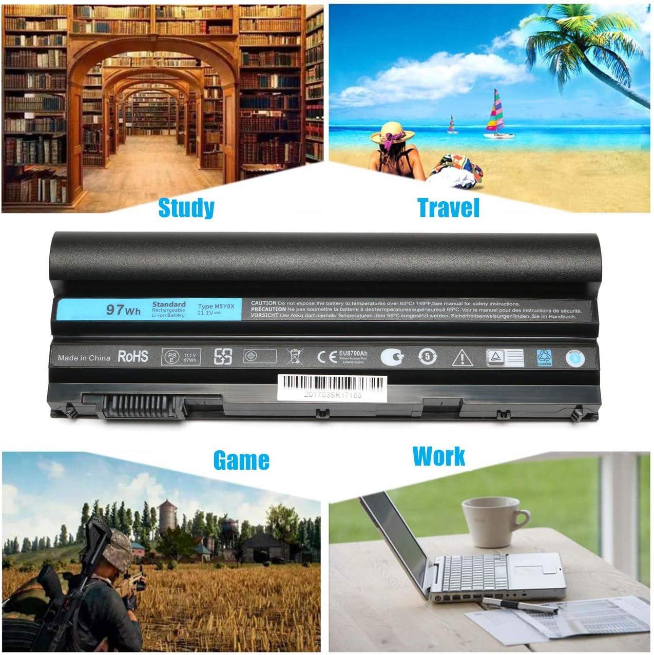 B01M3T5DL7 New 97Wh Latitude E5420 E6420 Laptop Battery for Dell E5520 E5530 E6520 Compatible P/N: M5Y0X T54FJ 2P2MJ 312-1325 312-1165 PRV1Y-12 Months Warranty 71OrtAyT7tL