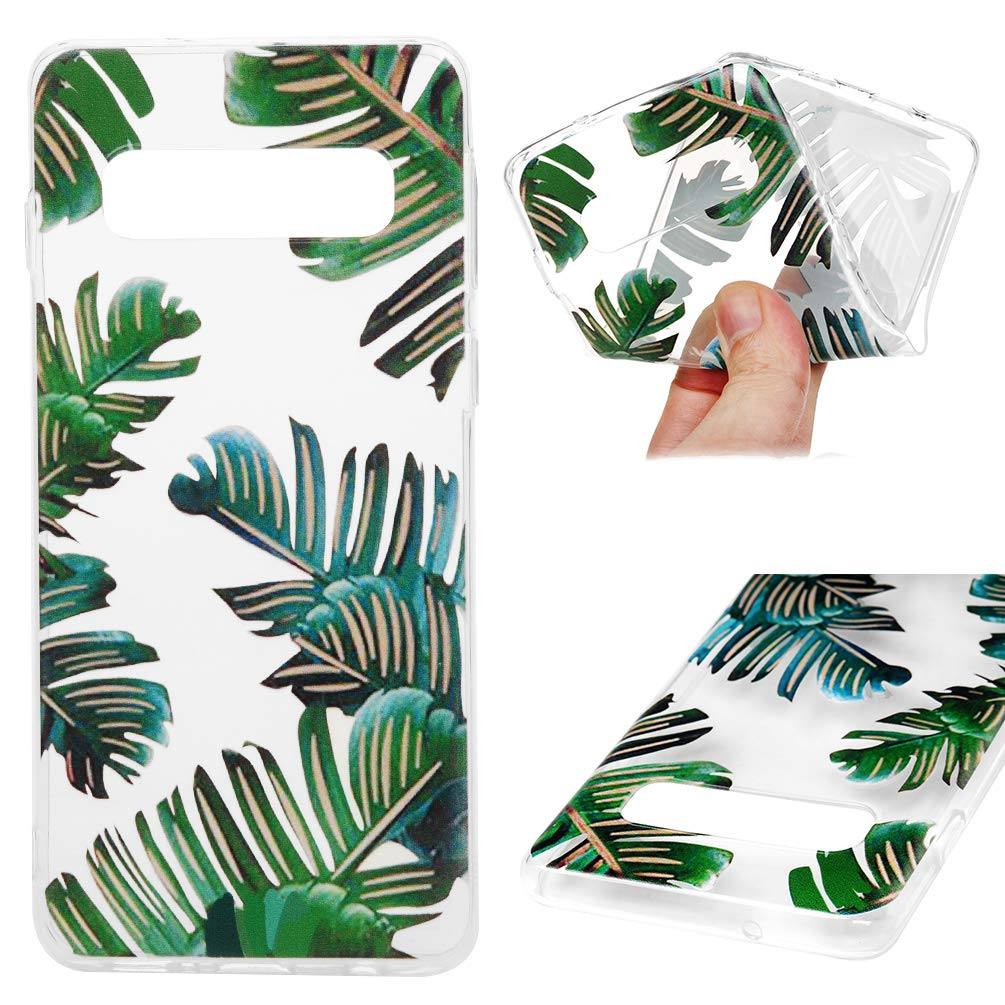 Galaxy S10 Case, Cover Ultra Slim HD Clear & Full TPU Soft Frame Hybrid Shockproof Bumper Drop Pretective Skin Shell for Galaxy S10, Banana Leaf by SUPWALL (Image #1)
