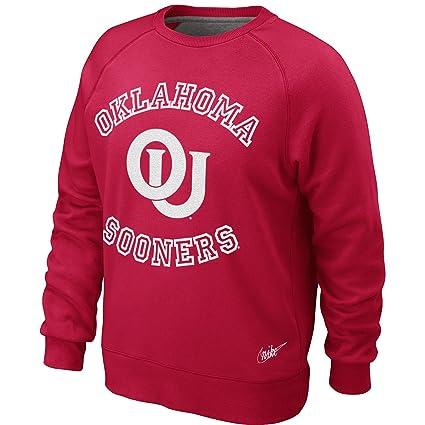 ca51c7366fad Amazon.com   Oklahoma Sooners Vault Crew Fleece Sweatshirt - Men - S ...