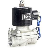 "BACOENG AC220V 1/2"" válvula de solenoide eléctrica Acero"
