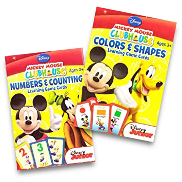 Disney Mickey Mouse Clubhouse Flash Cards (Set of 2 Decks)  Colors & Shapes  and Numbers &