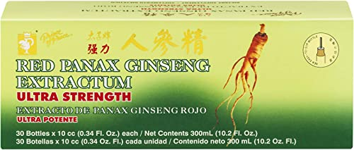Prince Of Peace Panax Ginseng Extractum w alcohol Pine Brand 30X10cc