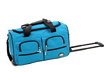 282f085edd Image Unavailable. Image not available for. Color  Rockland Luggage 22 inch Rolling  Duffle Bag ...