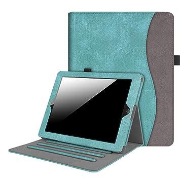 Fintie Funda para iPad 4/3 / 2 - [Protección de Esquina] [Multiángulo] Carcasa con Bolsillo Patrón de Tela y Función de Soporte y ...