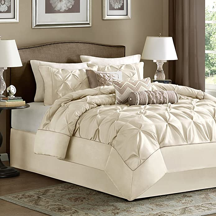 Piedmont 7 Piece Comforter Set - Ivory (California King)