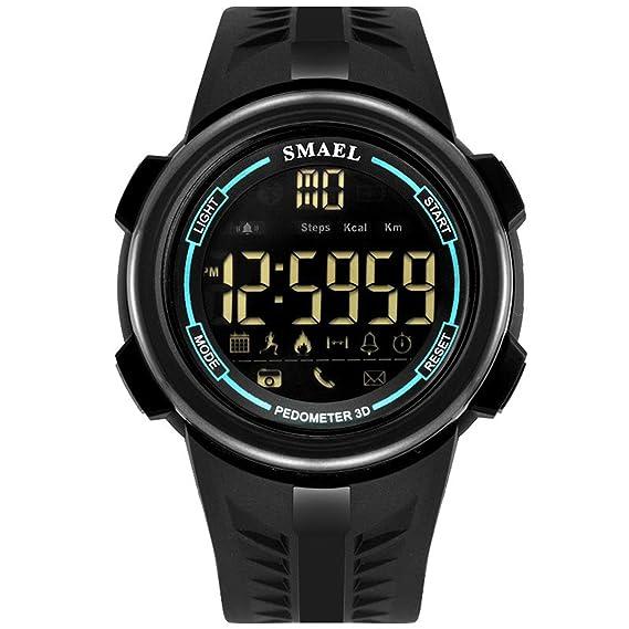 Beydodo Reloj Hombre Relojes Electronicos Relojes Unisex Reloj Multifunción Reloj Impermeable Negro Azul: Amazon.es: Relojes