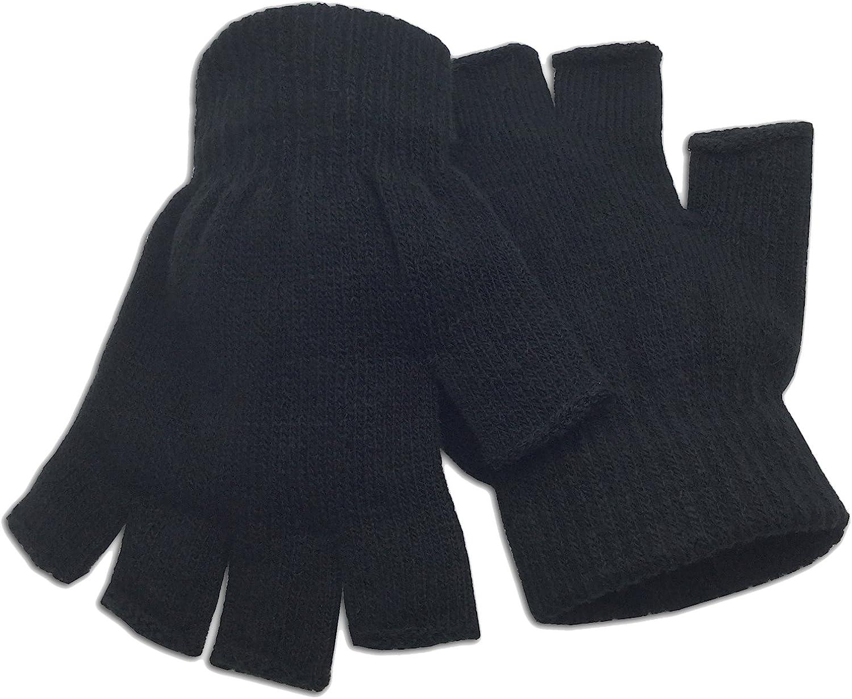 Black fingerless gloves on white background