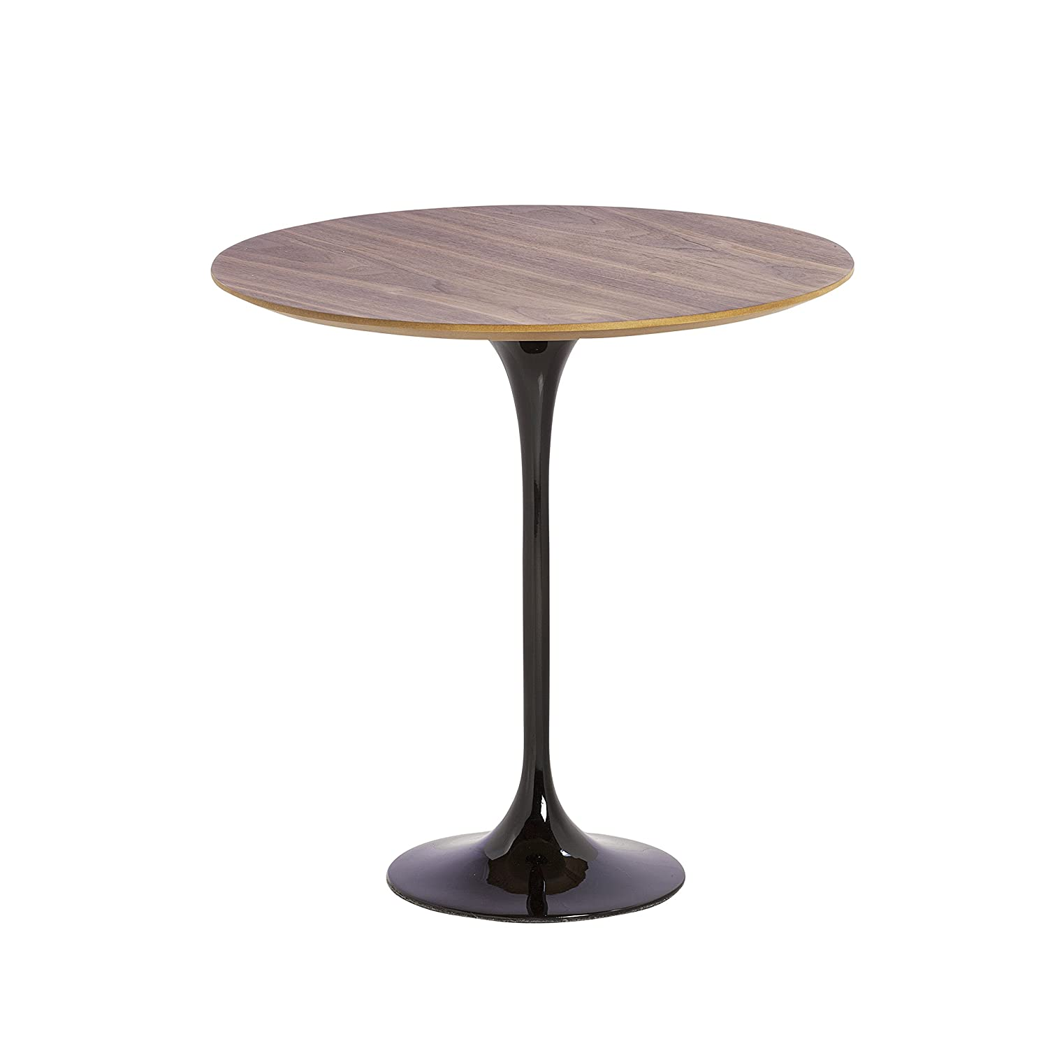 Amazon.com: Design Tree Home Midcentury Modern Saarinen Style Tulip Table,  Black Base With Walnut Top: Kitchen U0026 Dining