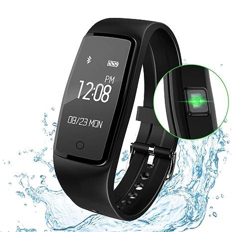 FLY Rastreador De Ejercicios Relojes Inteligentes, Pulsera Inteligente Rastreador GPS Resistente Al Agua Pulsómetro Deportes