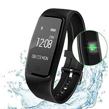 XXH Rastreador De Ejercicios Relojes Inteligentes, Pulsera Inteligente Rastreador GPS Resistente Al Agua Pulsómetro Deportes De Teléfonos Inteligentes Reloj ...