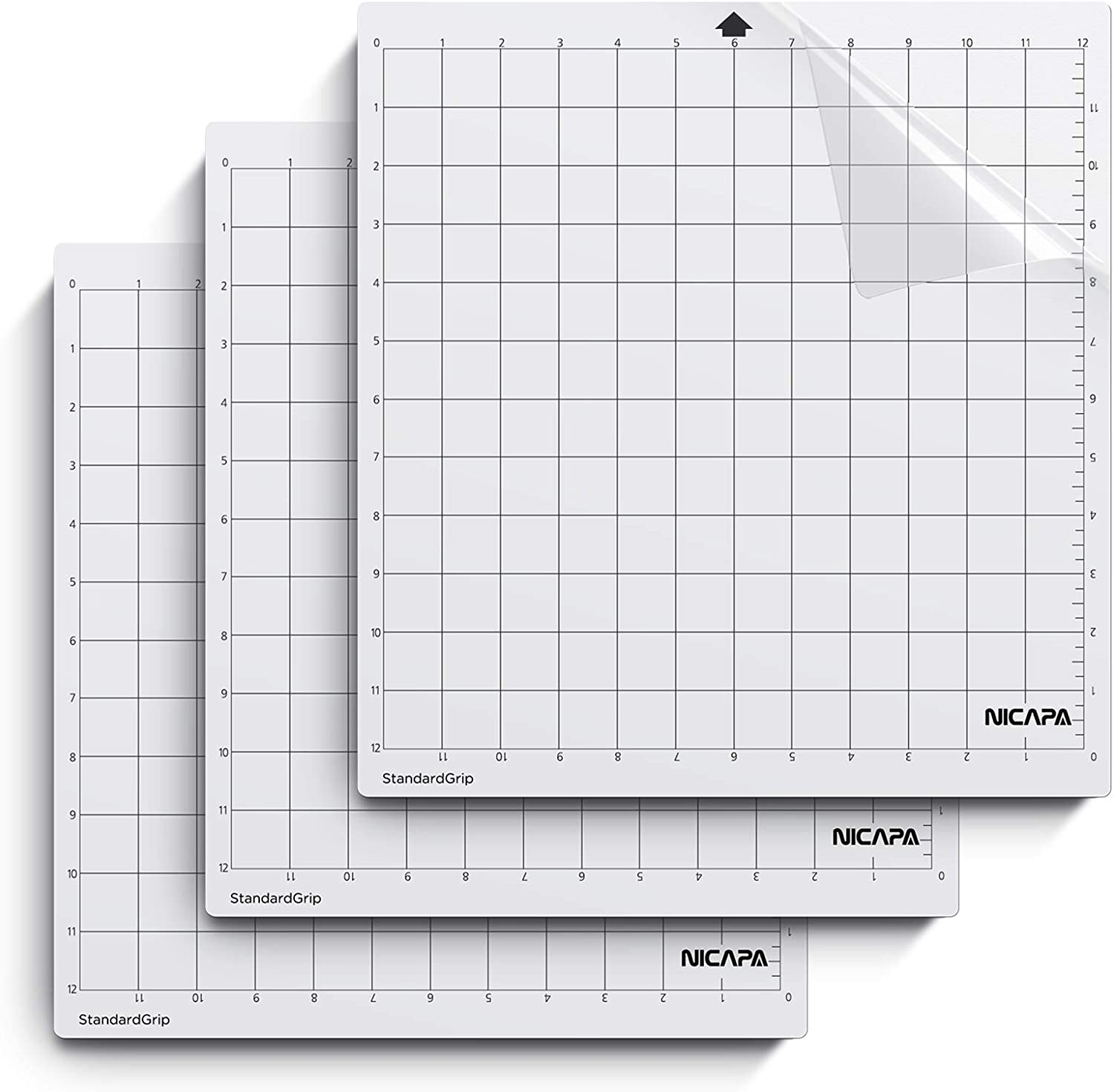 """12/"""" X 24/"""" remplacement Cameo Ofnmy 3Pcs standardgrip Silhouette Mat Coupe"""