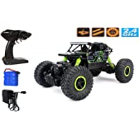 Zest 4 toyz 2.4Ghz 1/18 RC Rock Crawler Vehicle Buggy Car 4 WD Shaft Drive High Speed Remote Control Monster Off Road Truck... Green