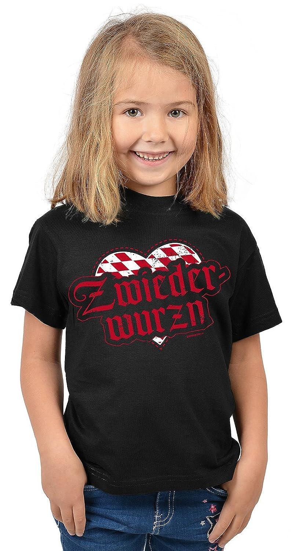 Lustige Bayrische Sprüche Kinder T-Shirt Volksfest: Zwiederwurzn -- Mundart bayrischer Dialekt Kindershirt