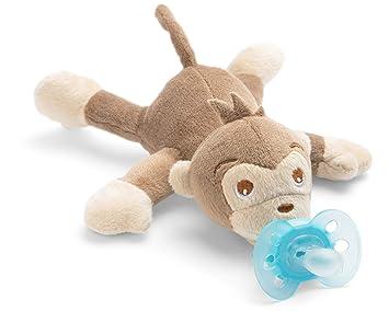 perfektes Geschenk f/ür Neugeborene und Babys Kuscheltier mit Schnuller ultra soft Schnullertier Philips Avent Snuggle Robbe SCF348//14