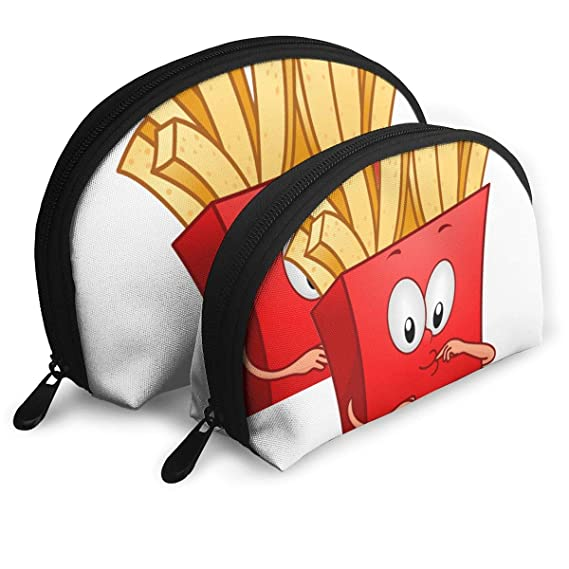 3fe44f4364fa Amazon.com: Funny French Fries Womens Shell Cosmetic Bags Arrow ...