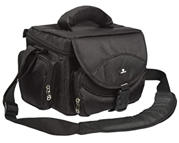Case4Life Grande Pro Serie Cámara reflex bolsa funda + Cubierta de lluvia para Nikon SLR D Serie D3200 D3300 D3400 D4 D40 D5 D500 D5100 D5200 D5300 ...