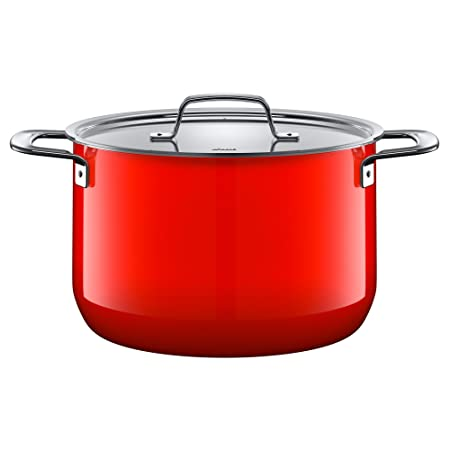 Silit Saucepan /Ø 16 cm Approx 1.3L Rojo Pouring Rim Made in Germany Silargan Functional Ceramic Suitable for Induction Hobs Dishwasher-Safe