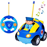 SGILE Remote Control Car for Toddlers with Sound and Light, RC Racer Car Toys Birthday Gift Present for 3 Year Olds Boys Girls Kids, Blue