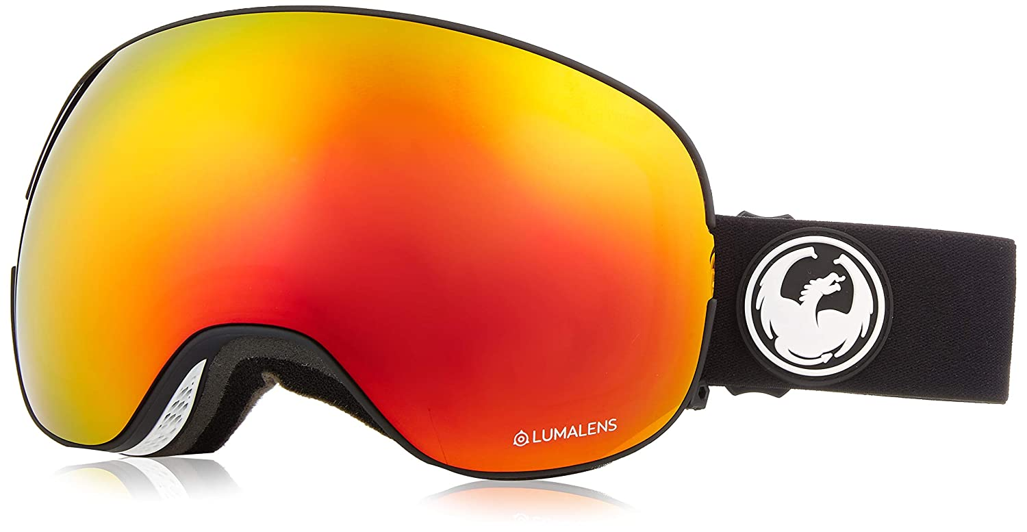 Dragon Alliance X2 Ski Goggles Dragon Alliance X2 Black Snow Goggles for Men//Women Red Ion 286317728332