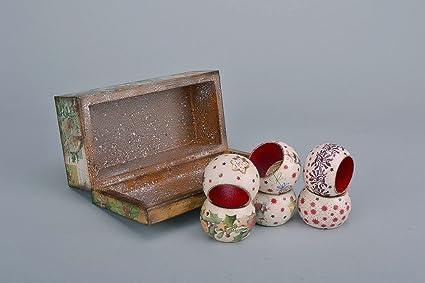 Set de anillos para servilletas con caja