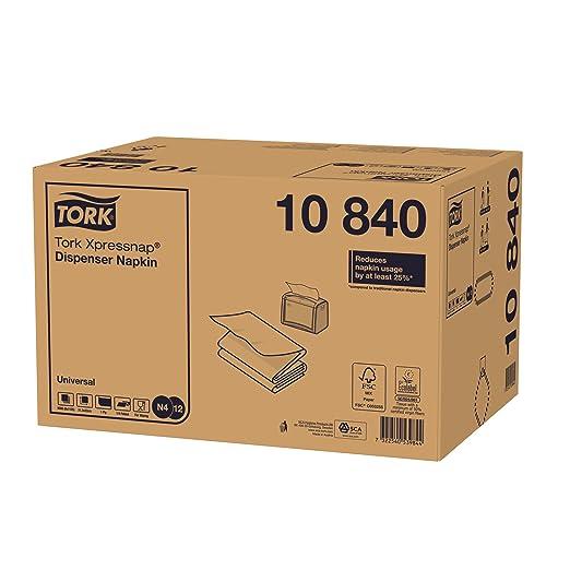 Tork Xpressnap 15840 Servilleta extrasuave/Recambios para el sistema N4 servilletero / 8 paquetes/Blanco: Amazon.es: Industria, empresas y ciencia