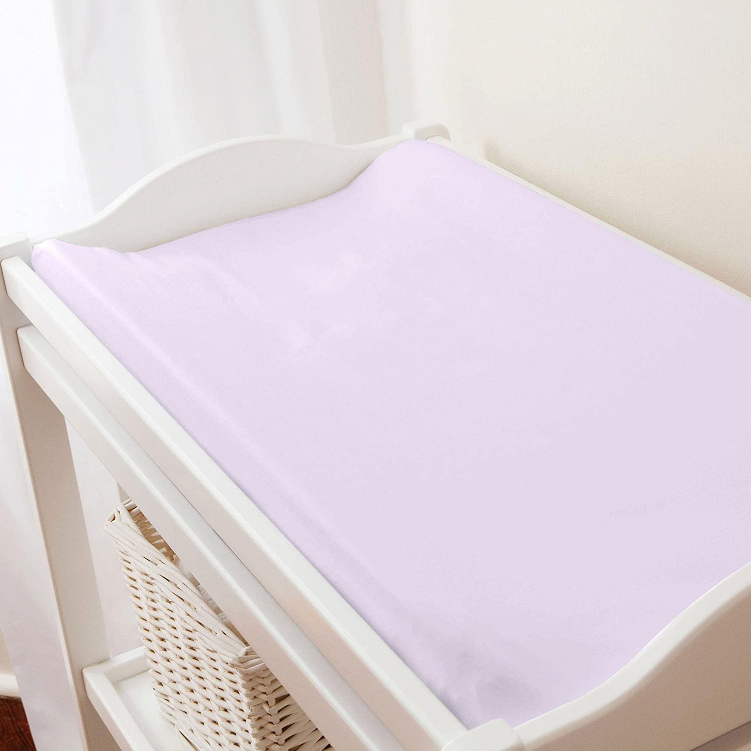 Carousel Designs Solid Lilac Changing Pad Cover by Carousel Designs   B00L890O5S