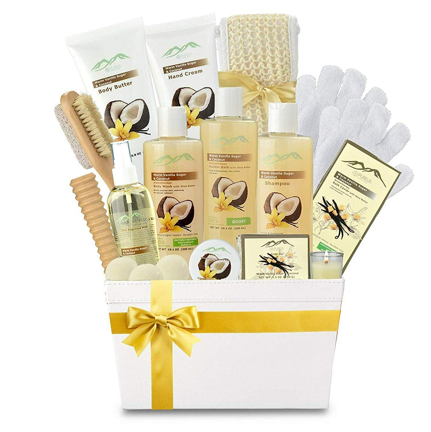 Premium Deluxe Bath & Body Gift Basket. Ultimate Large Spa Basket! #1 Spa Gift Basket for Women Body Lotion Gift Set! by Purelis
