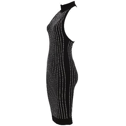 CIEMIILI Women Sleeveless Backless Vestidos Bandage Bodycon Dress at Amazon Womens Clothing store: