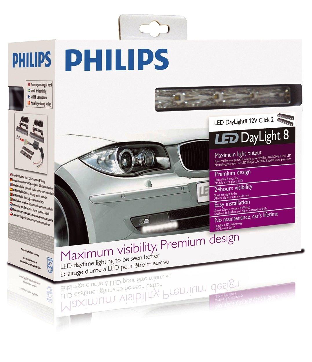 Philips 12824wlvwac1 Daylight 8 Gen 2 High Powered Phillips 7 Way Wiring Diagram Luxeon Led Daytime Running Light Automotive
