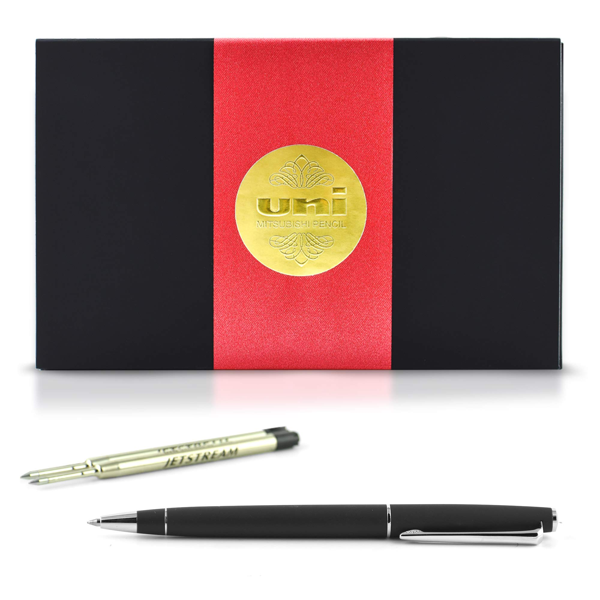 uni JETSTREAM PRIME TWIST - Includes one pen + two Parker Style refills (SXR-600-07) in Exclusive uni Gift Box - Black by uni