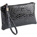 HCFKJ Classic Women Shoulder Bags Pu Leather Clutch Handbag Evening Bag Coin Purse
