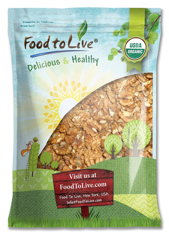 California Organic Walnuts, 12 Pounds - Non-GMO, Kosher, Raw, No Shell, Kosher, Sirtfood, Bulk