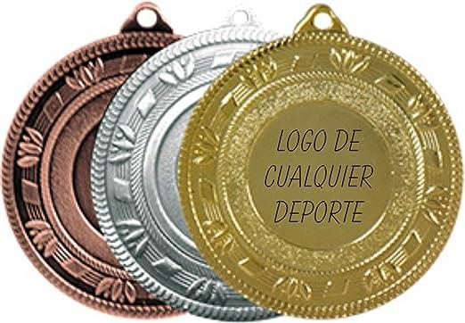 Medallas deportivas GRABADAS oro plata o bronce con cinta ...
