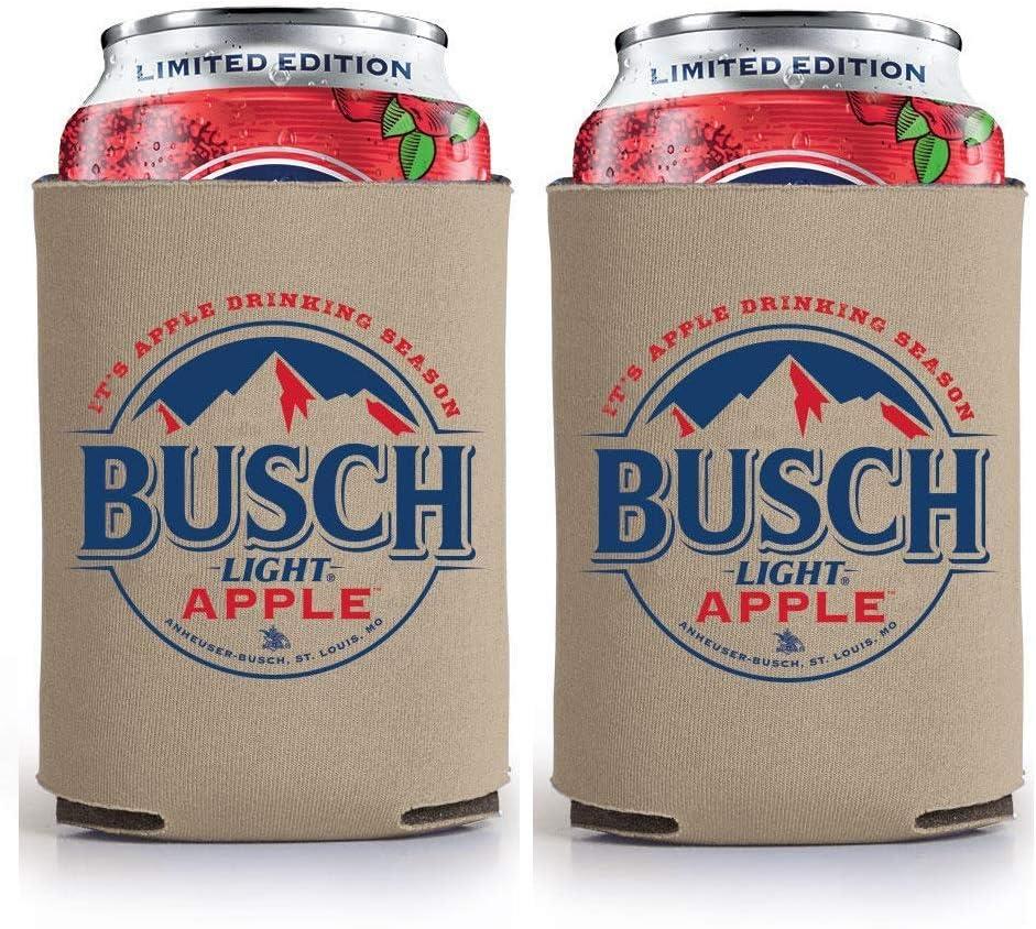 Busch Light Beer BUSCH APPLE Can Coolie Cooler - Limited Edition - 2 Pack
