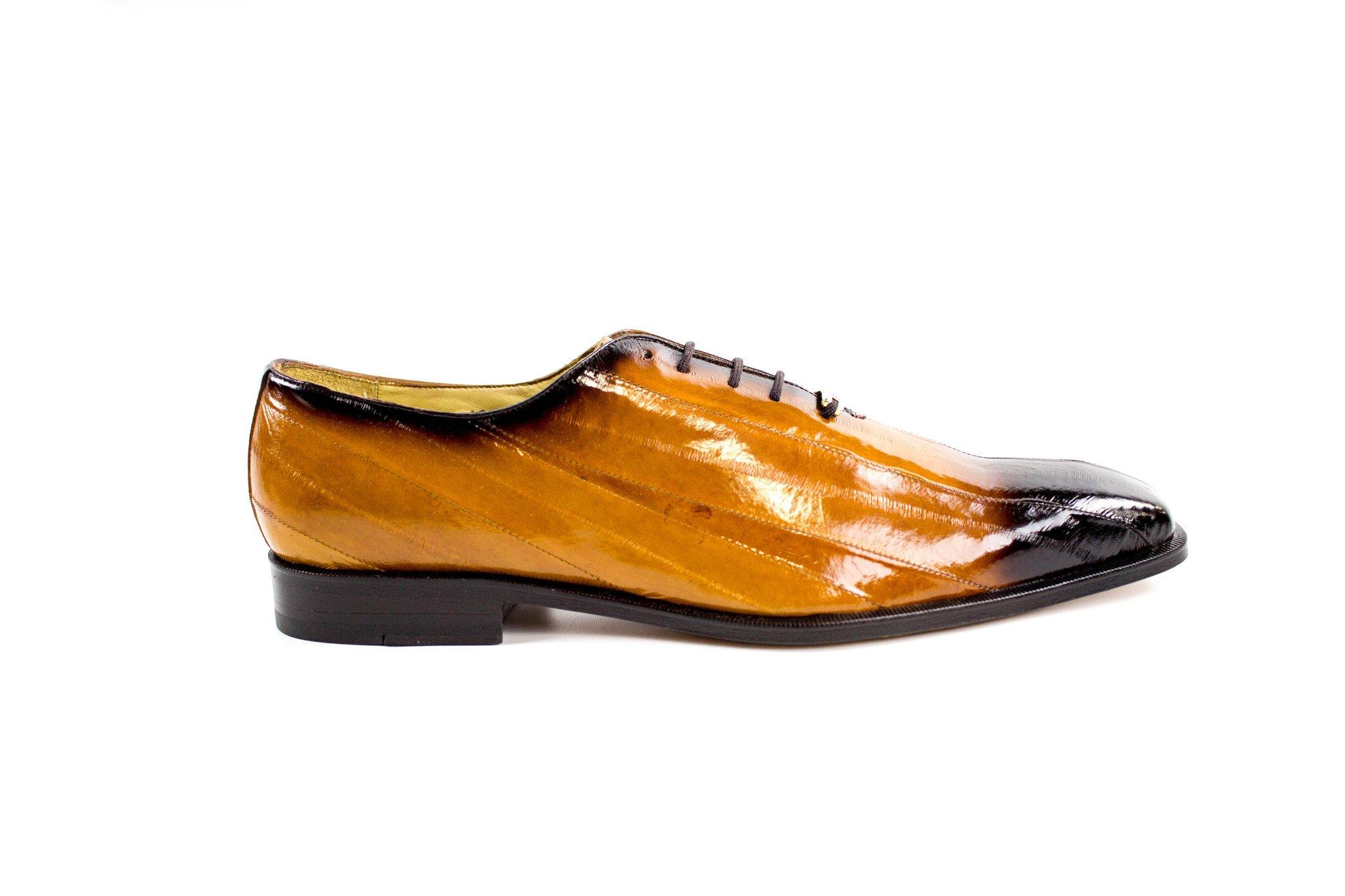 Belvedere Stella Antique All-Over Genuine Eel Oxford Shoes (9.5M, Antique Camel) by Belvedere (Image #1)