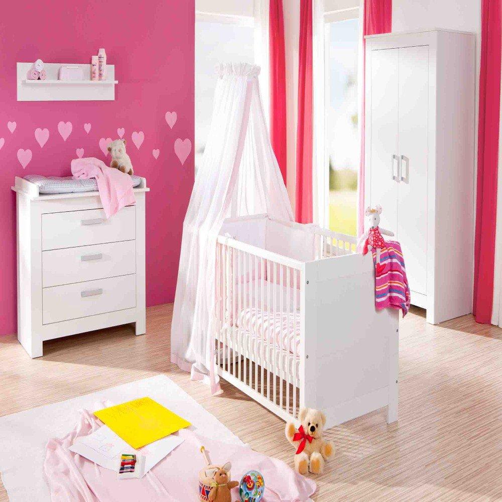 Geuther 1172 3-tlg. Kinderzimmer Marlene mit 3-trg. Schrank - weiß ...