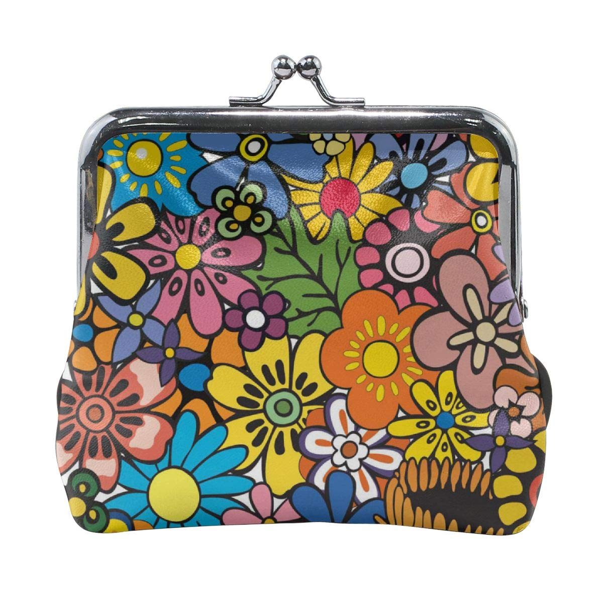 Exquisite Flower Pattern Credit Cards Buckle Coin Purse For Womens