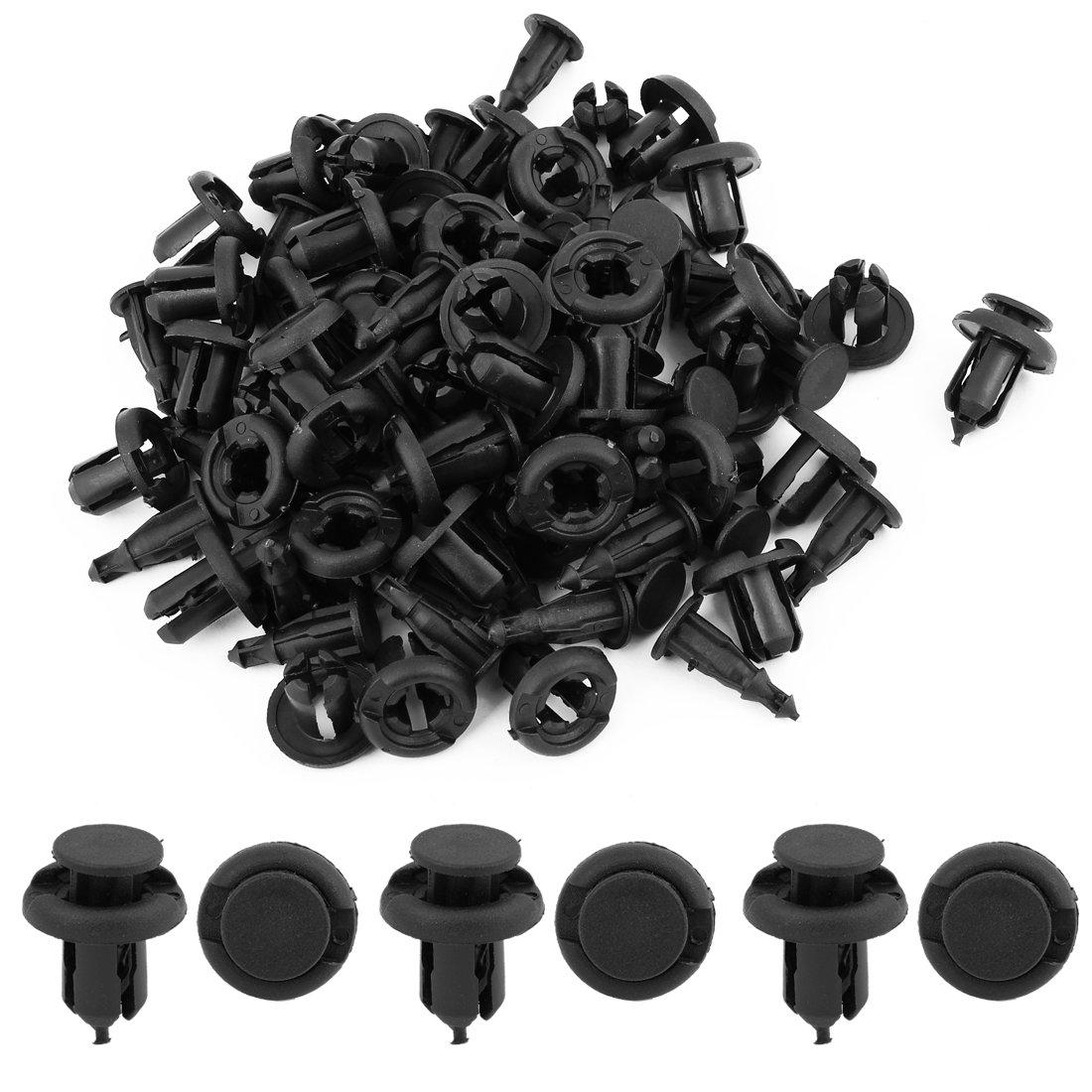 Sourcingmap 50Pcs Negro Remaches de Veh/ículo Puerta Panel Molduras 20mm Grapa 9mm Agujero