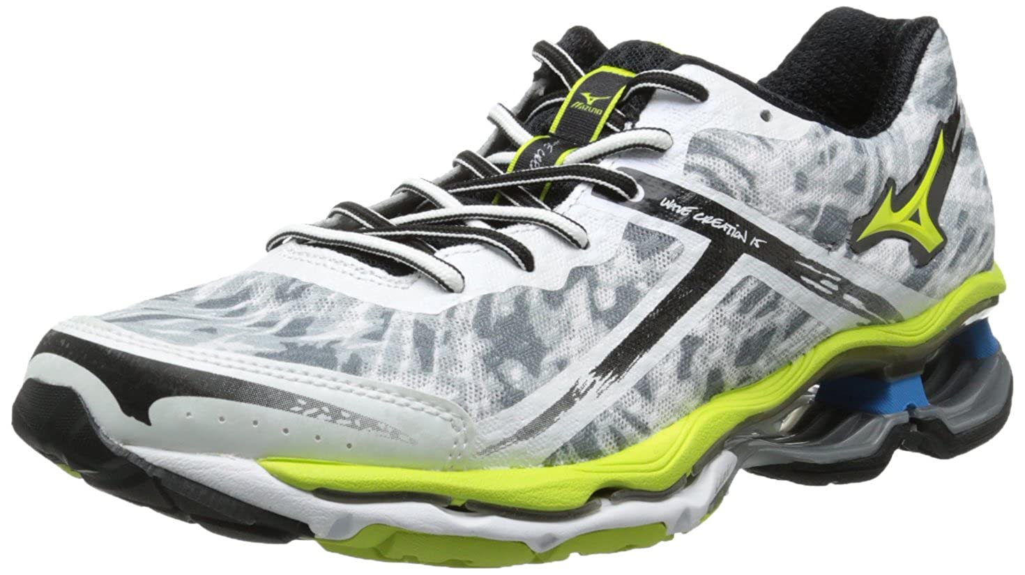 Mizuno Men s Wave Creation 15 Running Shoe,White,8 D US
