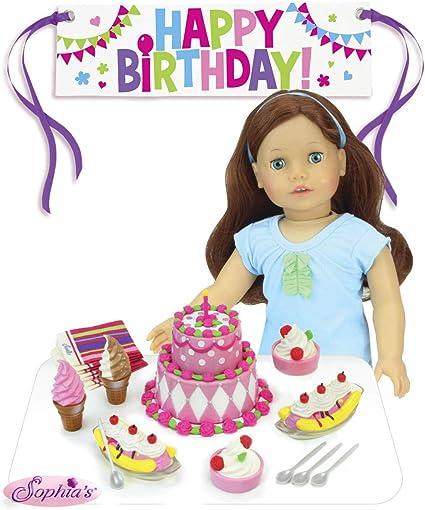 Amazon.com: Sophia de Happy Fiesta de cumpleaños set para 18 ...